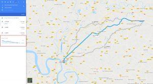 Google Map Dénivelé