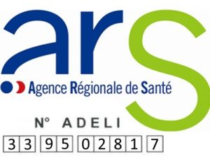 logo ARS + numéro Adeli